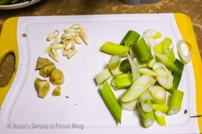 Garlic, ginger and leek